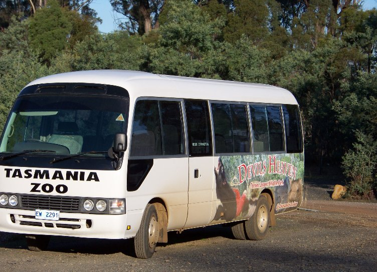 Bus Service to the Tasmania Zoo, Launceston Australia