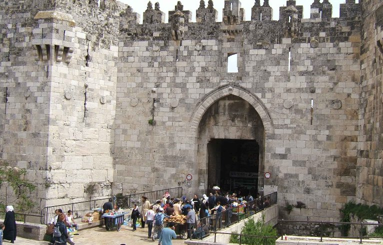 Damascas Gate in Jerusalem, Israel, Israel