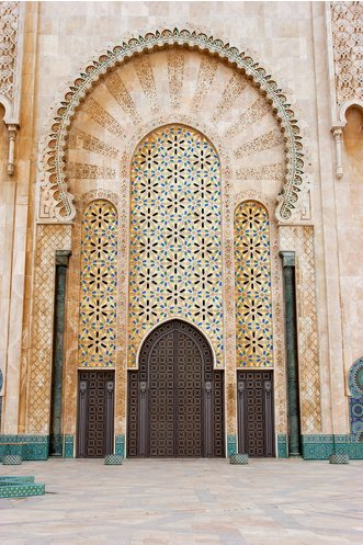 The Entrance of the Hassan II Mosque, Casablanca Morocco