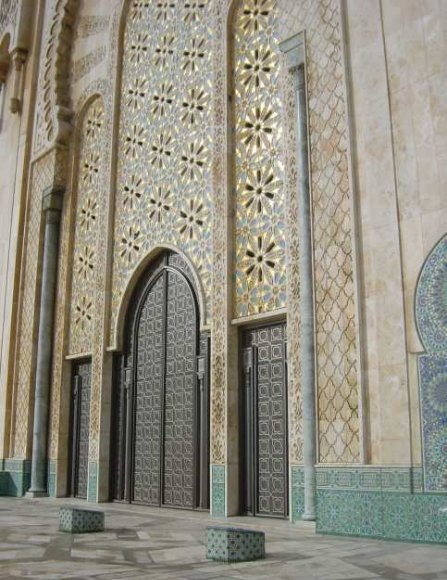 Amazing mosaic on the Hasan II Mosque, Morocco