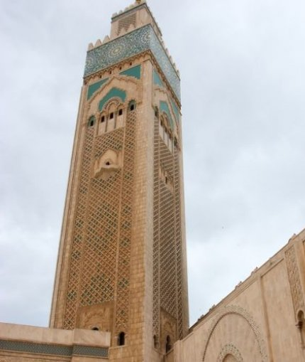 The world's tallest minaret in Casablanca, Morocco