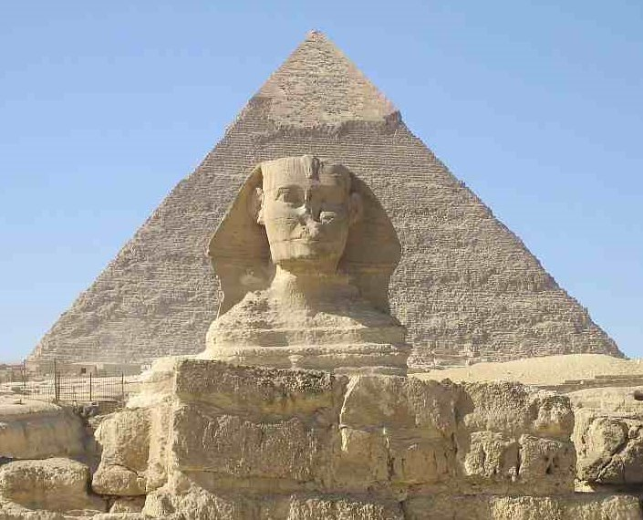 The Sphinx of Giza near Cairo Cairo Egypt Africa