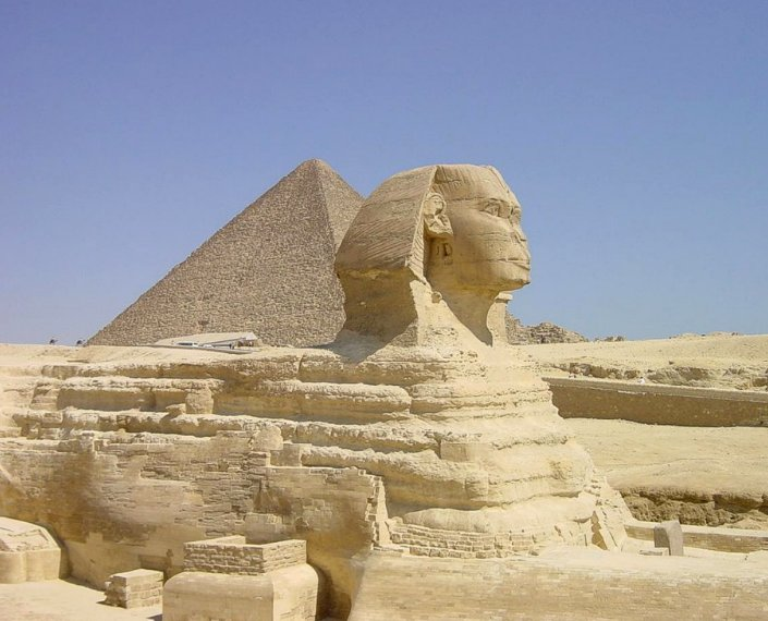 The Pyramid of Khafre and the Great Sphinx, Egypt