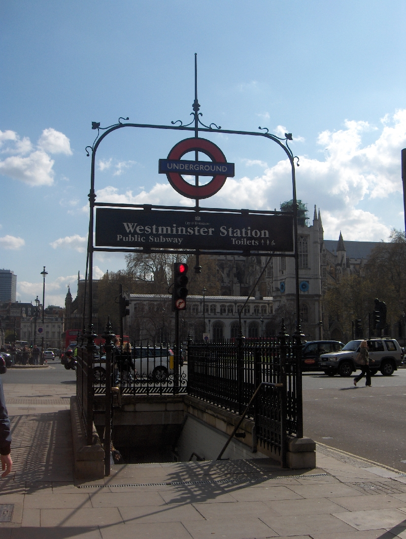 Westminster Metro Station in London, United Kingdom
