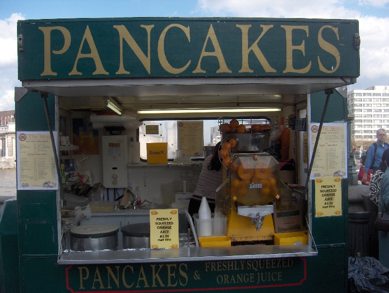 Fresh Pancakes on the London Bridge, London United Kingdom