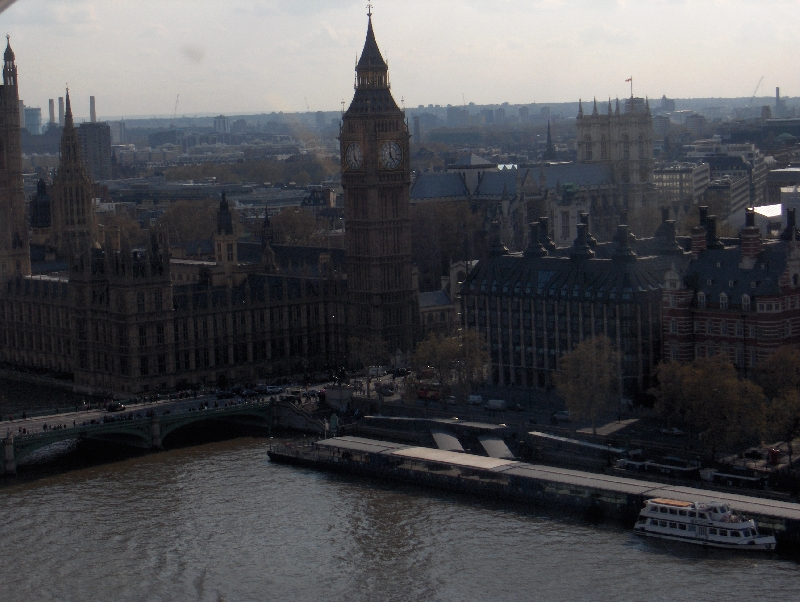 The Big Ben seen from the air, United Kingdom