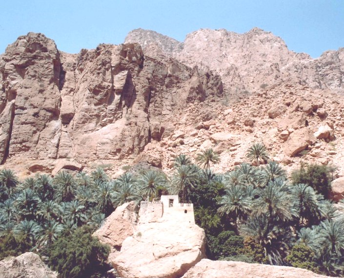 Bird sounds from Canyon Walls at Wadi Tiwi, Oman