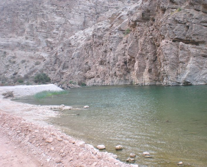 Beautiful water at Wadi Tiwi in Muscat, Oman