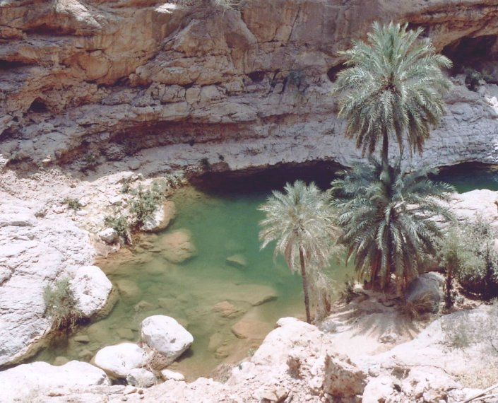Amazing Gorge at Wadi Tiwi, Oman, Muscat Oman