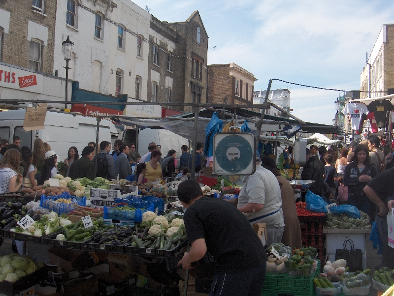The Portobello Market in London, United Kingdom