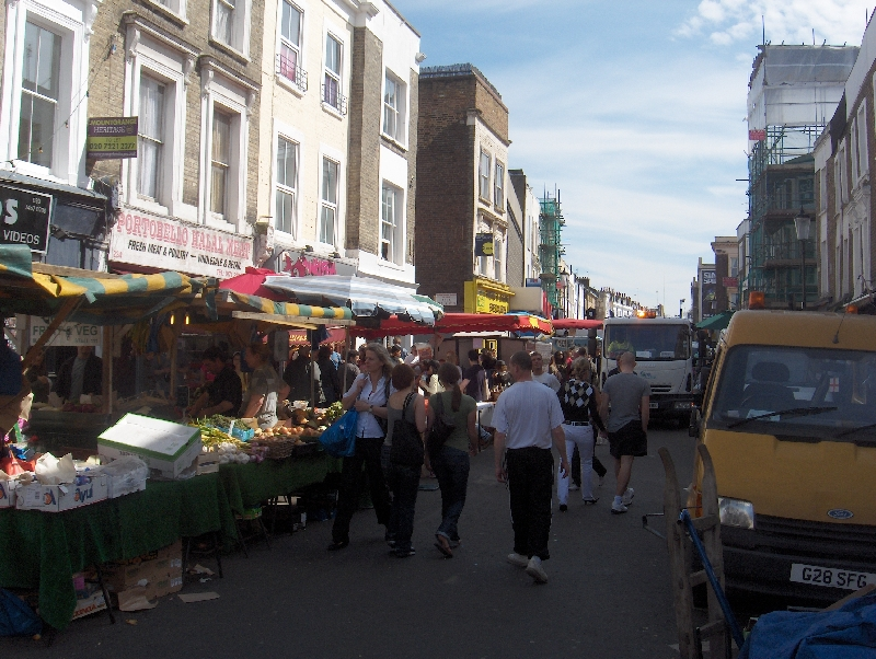Portobello Road in London, United Kingdom