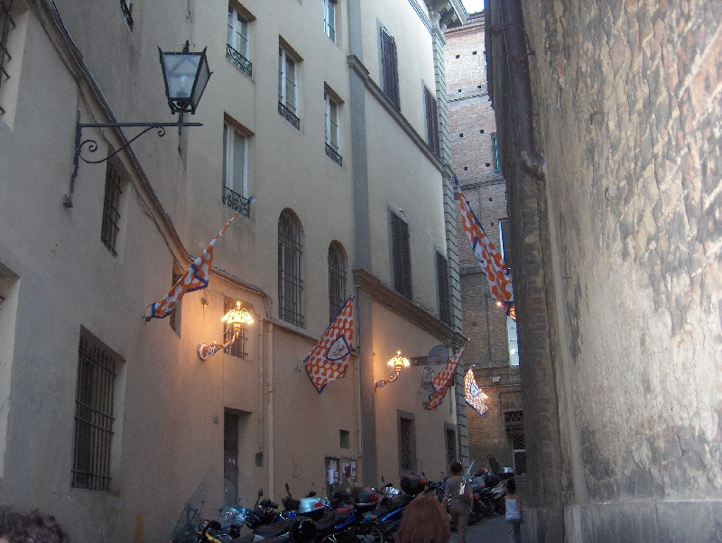 The streets of Siena celebrate, Italy