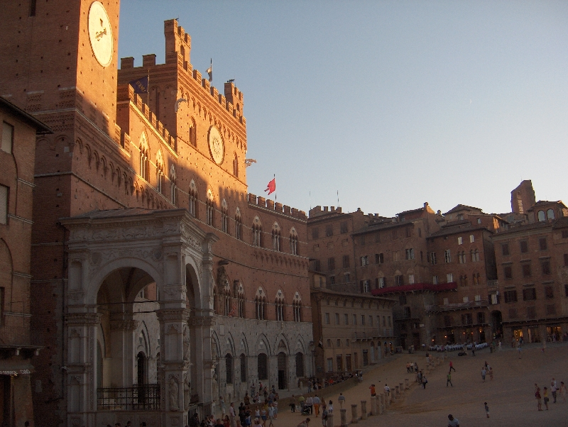 Piazza del Campo during the Palio, Siena Italy