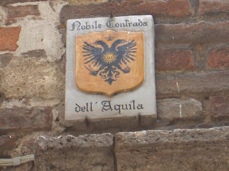 Contrada dell'Aquila in Siena, Italy