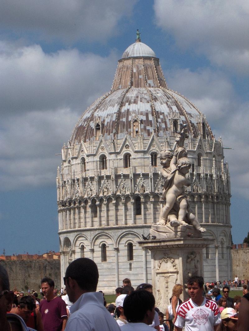 Pisa Italy The Baptistry at Piazza del Duomo