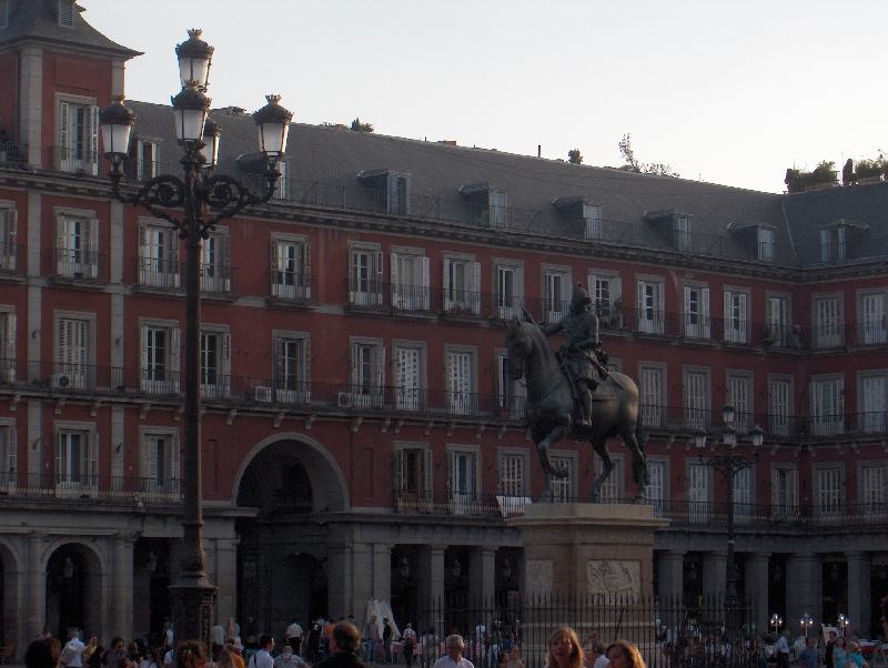 Plaza Mayor in the centre of Madrid, Spain