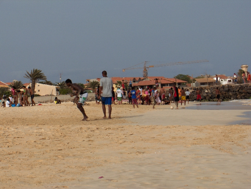 Capoeira practice on Sal, Cape Verde