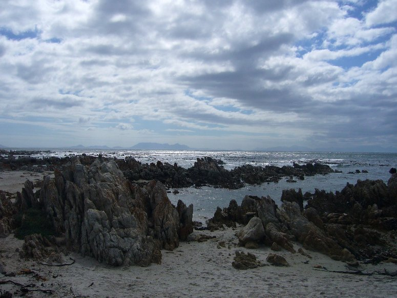 Rocky beach at Pringle Bay, Cape Town South Africa