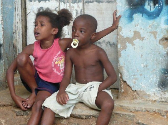 Brazilian kids in a favela, Brazil