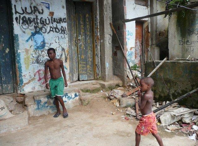 Pictures of a favela in Rio de Janeiro, Brazil