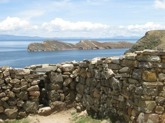 Puno Peru Ancient Inca Ruins on Isla del Sol