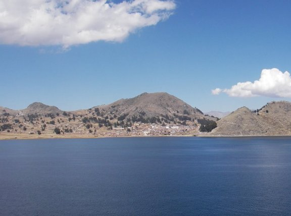 Puno Peru Isla del Sol and Titicaca Lake