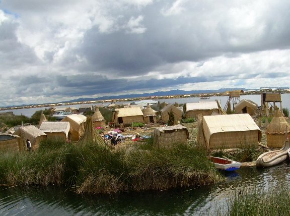 Puno Peru The Floating island of Uros