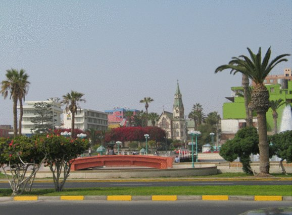 Plaza de las Armas in Arica, Chile