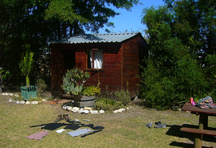 Our cabin in Wilderness, South Africa