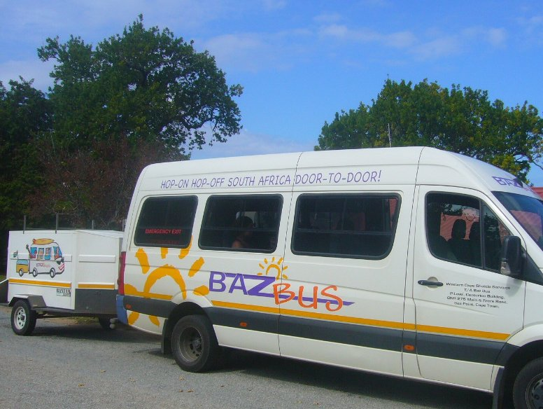 The Bazz bus leaving Cape Town, South Africa