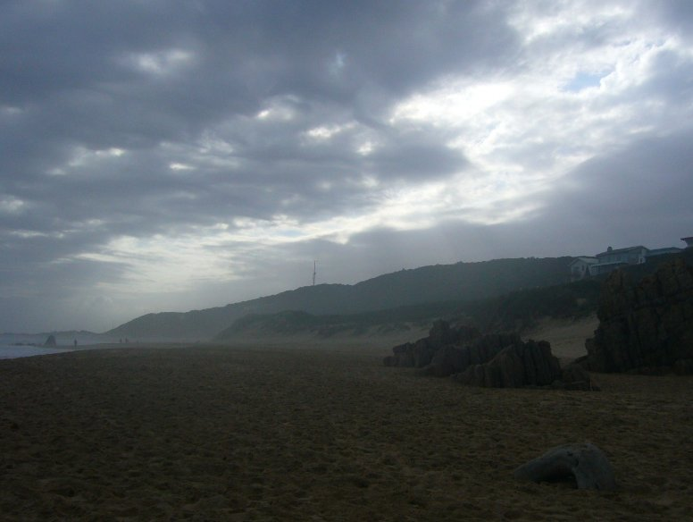 A Cloudy day on the beach, Knysna South Africa