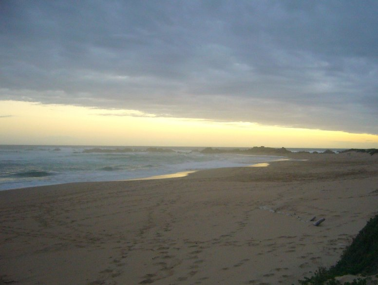 Long stretches of empty beach, South Africa