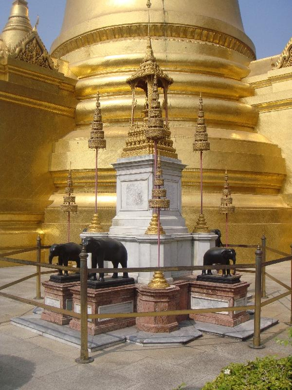 The Golden Chedi at Grand Palace, Bangkok Thailand
