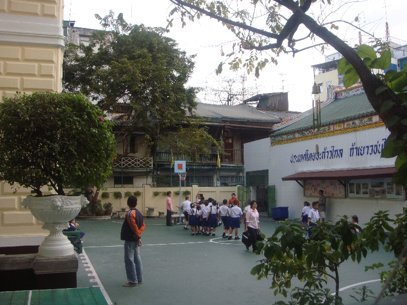 School kids playing in Bangkok, Thailand