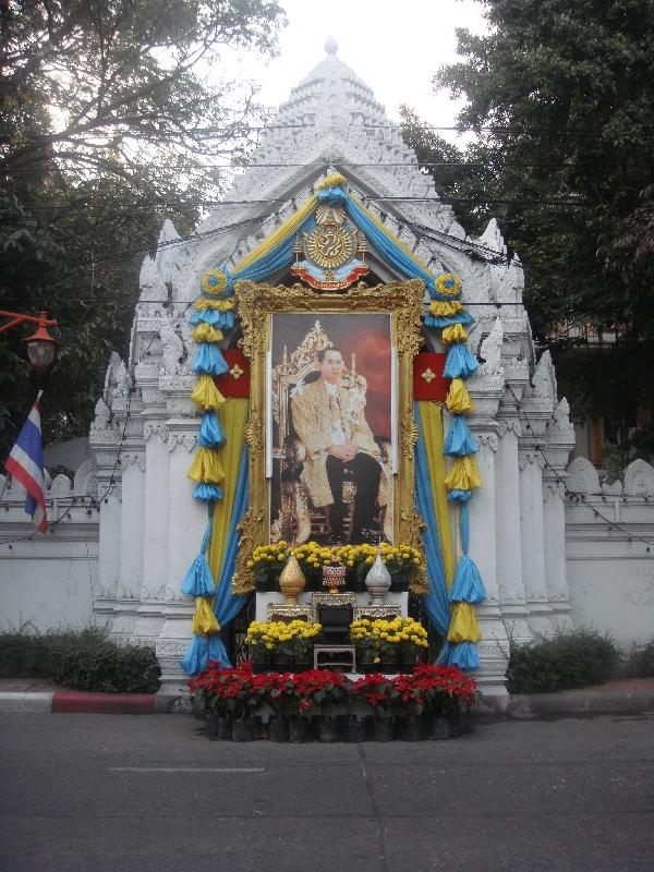 Monument in honor of the Thai KIng, Bangkok Thailand