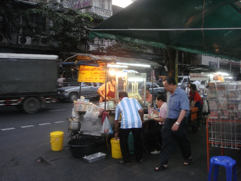 Food stalls in Chinatown, Thailand
