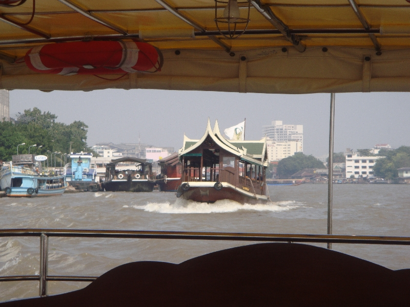 Looking out on the Bangkok River, Bangkok Thailand