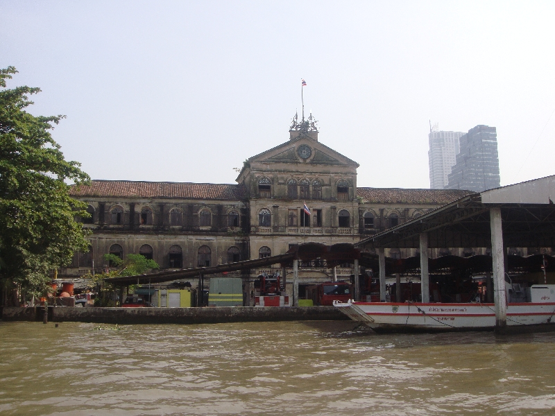 Big Warehouses on the Phraya River, Bangkok Thailand