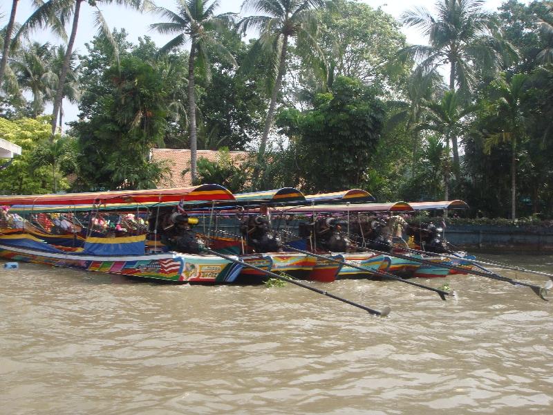 Longtail taxi boats in Bangkok, Thailand