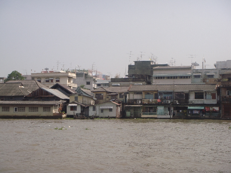 The houses on the Mae Nam Chao Phraya, Thailand