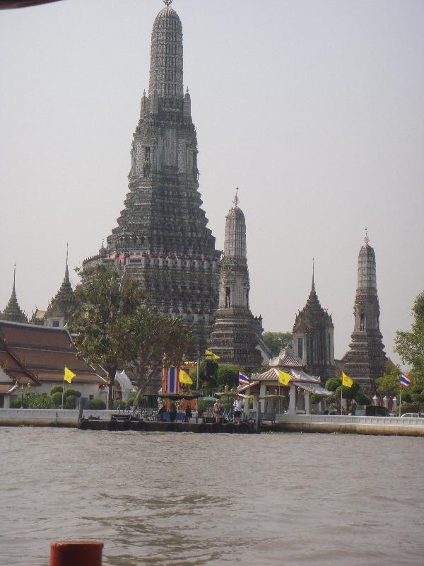 Wat Arun from our river boat, Thailand