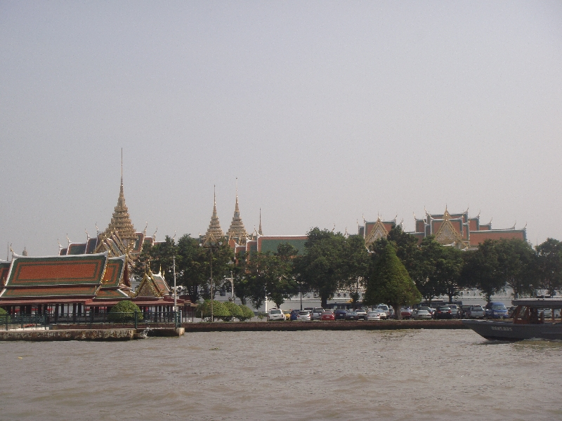 River View of the Grand Palace, Bangkok Thailand