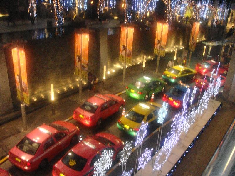 Taxi's in Bangkok's CBD, Thailand