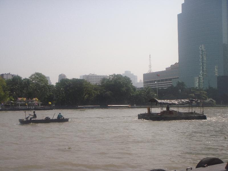 Taxi motor boats in Bangkok, Thailand