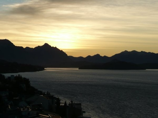 San Carlos de Bariloche Argentina Sunset over Nahuel Huapi National Park