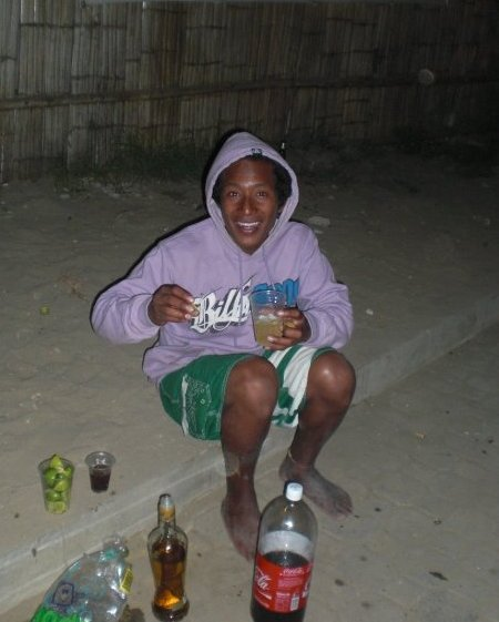 Street Bartender in Montanita, Ecuador