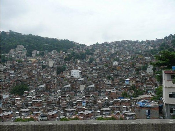 The houses of a Brazilian favela, Brazil