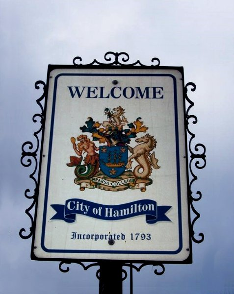 Hamilton City street sign, Bermuda