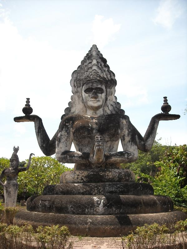 The Hindu statues in Laos, Vientiane Laos