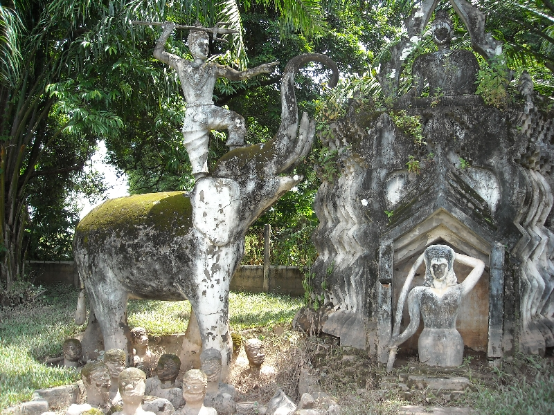 Pictures of the Buddha Park in Vientiane, Laos